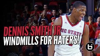 getlinkyoutube.com-Dennis Smith Responds to Hecklers at Home with Monster Windmill in OT!