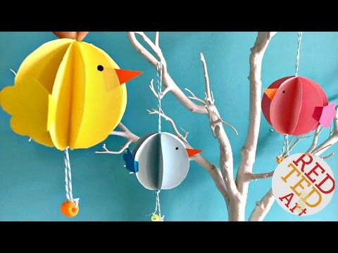 Easy Bauble Chick Ornaments DIY - Easter DIY - Spring Decor DIY