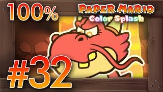 getlinkyoutube.com-Paper Mario Color Splash 100% Walkthrough Part 32   Redpepper Volcano [100%] Wii U Gameplay
