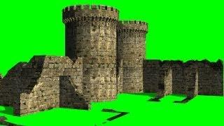 getlinkyoutube.com-Castle Ruins on Green Screen - free green screen