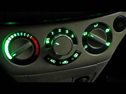 Замена лампочек подсветки Блока кондиционера и печки Chevrolet Aveo Т250 (ч1).