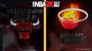 getlinkyoutube.com-NBA 2K16 Gameplay - Chicago Bulls vs Miami Heat - Full Game [ HD ]