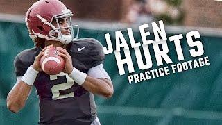 getlinkyoutube.com-See how freshman QB Jalen Hurts is looking in fall practice