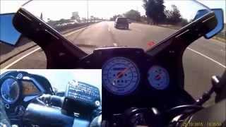 getlinkyoutube.com-Kawasaki ninja 250r vs Bajaj Rouser 200 ns