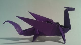 getlinkyoutube.com-Origami - How to make an easy origami dragon