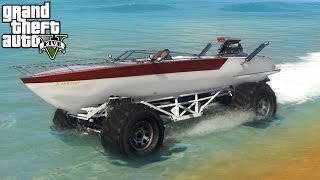 getlinkyoutube.com-★ GTA 5 - EPIC Boat Mobile Mod! 4x4 Off-Roading, Mudding, & Ramps Mod Showcase! (GTA V PC Mods)