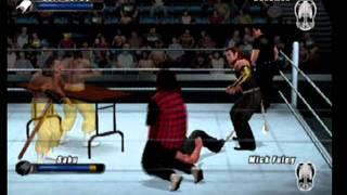 getlinkyoutube.com-Smackdown vs Raw 2008 Extreme Rules Jeff Hardy vs Sandman vs Sabu vs Mick Foley PT1