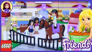 getlinkyoutube.com-Lego Friends Summer Riding Camp Build Review Silly Play Part 1 - Kids Toys