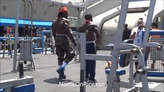 getlinkyoutube.com-VERY STRONG MEN WORKOUT (KALI MUSCLE) AT MUSCLE BEACH, VENICE BEACH CALIFORNIA MAY 28, 2013