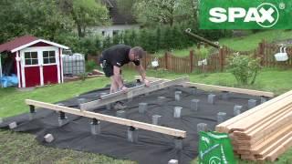 getlinkyoutube.com-Holzterrasse mit höhenverstellbarem Verlegesystem von SPAX bauen