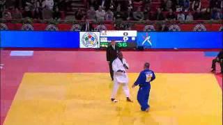 getlinkyoutube.com-Judo Grand Slam Paris 2012: +100kg semi final RINER, Teddy (FRA) - TANGRIEV, Abdullo (UZB)