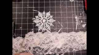 getlinkyoutube.com-Shabby Chic Snowflake Ornaments Tutorial