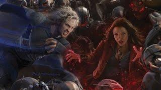 getlinkyoutube.com-Avengers: Age of Ultron - Aaron Taylor Johnson & Elizabeth Olsen Talk Quicksilver & Scarlet Witch