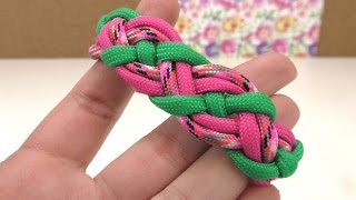 getlinkyoutube.com-Paracord Celtic Knot Armband / DIY Knoten Paracord Bracelet / Schmuck Anleitung deutsch