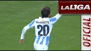 getlinkyoutube.com-Resumen de Málaga CF (4-1) SD Eibar - HD