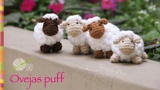 Ovejas puff (como pomponcitos :) tejidas a crochet / amigurumi!