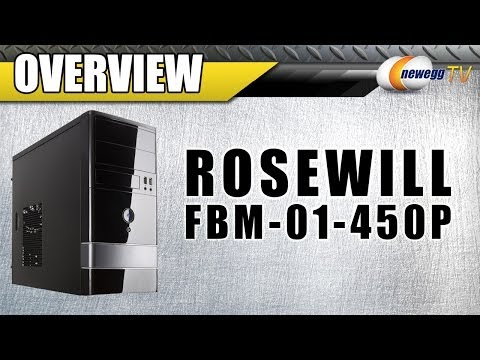 Rosewill MicroATX Mini Tower Computer Case with 450W power supply Overview - Newegg TV