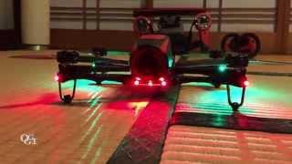 getlinkyoutube.com-Parrot BeBop Droneに夕暮れ確認しやすいようLEDを取り付けてみました
