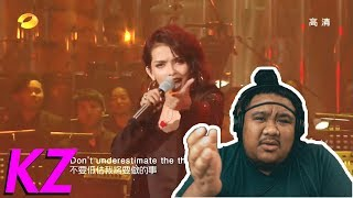 KZ Tandingan - Rolling In The Deep (The Singer 2018) [MUSIC REACTION]