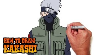 getlinkyoutube.com-How to Draw Kakashi from Naruto- Video Lesson