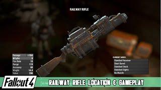getlinkyoutube.com-Fallout 4 - Railway Rifle Location and Gameplay