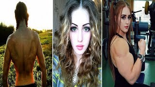 getlinkyoutube.com-Russian Muscle Barbie: 18 y.o with Face of Porcelain Doll & Body of HULK who can deadlift 400lbs