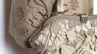 getlinkyoutube.com-Мастер-класс по изготовлению сумочки Нежность из натуральной кожи и венецианского кружева