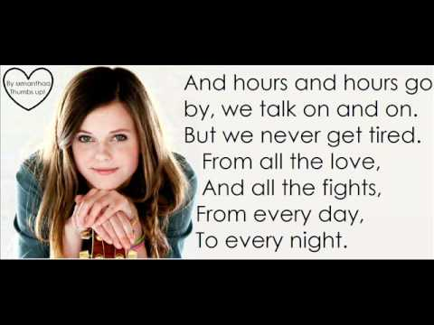 Tiffany Alvord - unforgettable lyrics -4sqqjaFeNA8