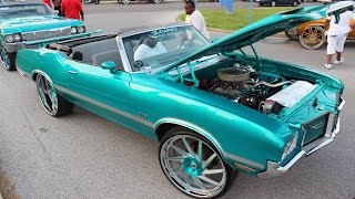 "getlinkyoutube.com-Veltboy314 - Candy Teal 442 Cutlass on 26"" Forgiato Wheels - 2016 Naptown Expo Weekend Footage"