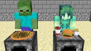 getlinkyoutube.com-Monster School: Girls vs Boys Cooking Challenge - Minecraft Animation