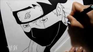 getlinkyoutube.com-Drawing Kakashi Hatake/Desenhando kakashi Hatake By VanderNinja
