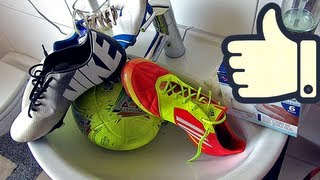 getlinkyoutube.com-How To Clean Soccer Cleats & Footballs by freekickerz