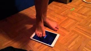 Kid smashing tablet
