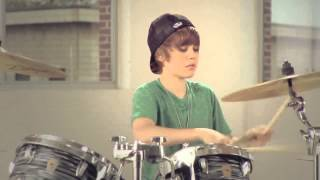 getlinkyoutube.com-Justin Bieber Drums,rapping and guitar version 2