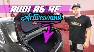 getlinkyoutube.com-AUDI A6 4F Einbau V8 Motorsound Active Sound Auspuffanlage Schawe Car Design