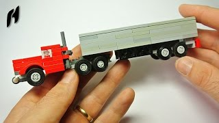 getlinkyoutube.com-How to Build a Lego Truck with Trailer (MOC)