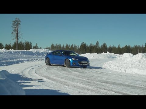 BRZ with studded tires on frozen lake in Finland or why it is so cool to train in winter