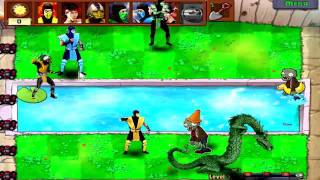 getlinkyoutube.com-Mortal kombat vs Plants vs Zombies !