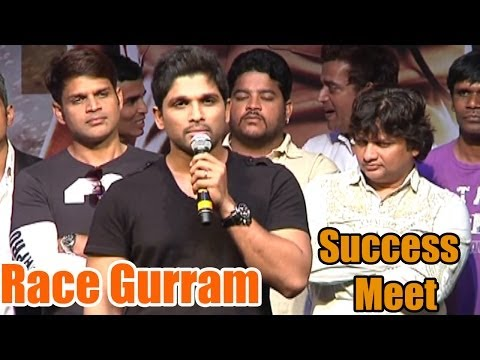 Race Gurram Movie Success Meet - Allu Arjun, Shruti Haasan