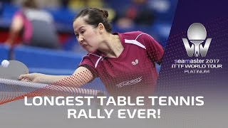Longest Table Tennis Rally Ever!