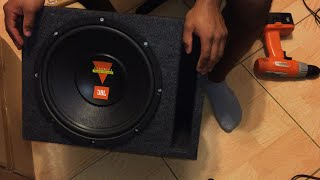 getlinkyoutube.com-How To Build a Subwoofer - 12 inch JBL Sub Box Replacement