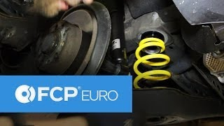 getlinkyoutube.com-VW Rabbit Rear Coilover Install (ST Suspension, Shock Replacement, Golf) FCP Euro
