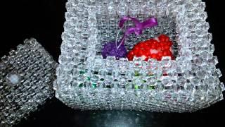 getlinkyoutube.com-Хрустальная шкатулка из бусинок