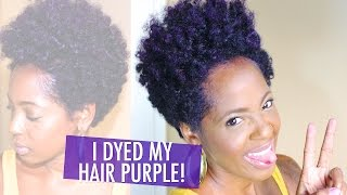 getlinkyoutube.com-Manic Panic Ultra Violet Hair Dye on Natural Hair
