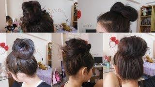 getlinkyoutube.com-How to ทำผม มัดผมง่ายๆ (5 ways to Easy Bun Hair)