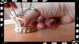 getlinkyoutube.com-How to Make a Basket from  Newspaper   DIY Návod na pletené  z papíru Cestería con periódicos