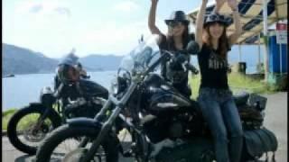getlinkyoutube.com-BIKER GIRLS 37 バイカーガールズ(?) Harley-Davidsonツーリングno2