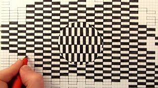 How to Draw a Moving Optical Illusion
