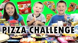 getlinkyoutube.com-PIZZA CHALLENGE w/ Tabasco Hot Sauce Jelly Beans | FUNnel Vision Family Fun