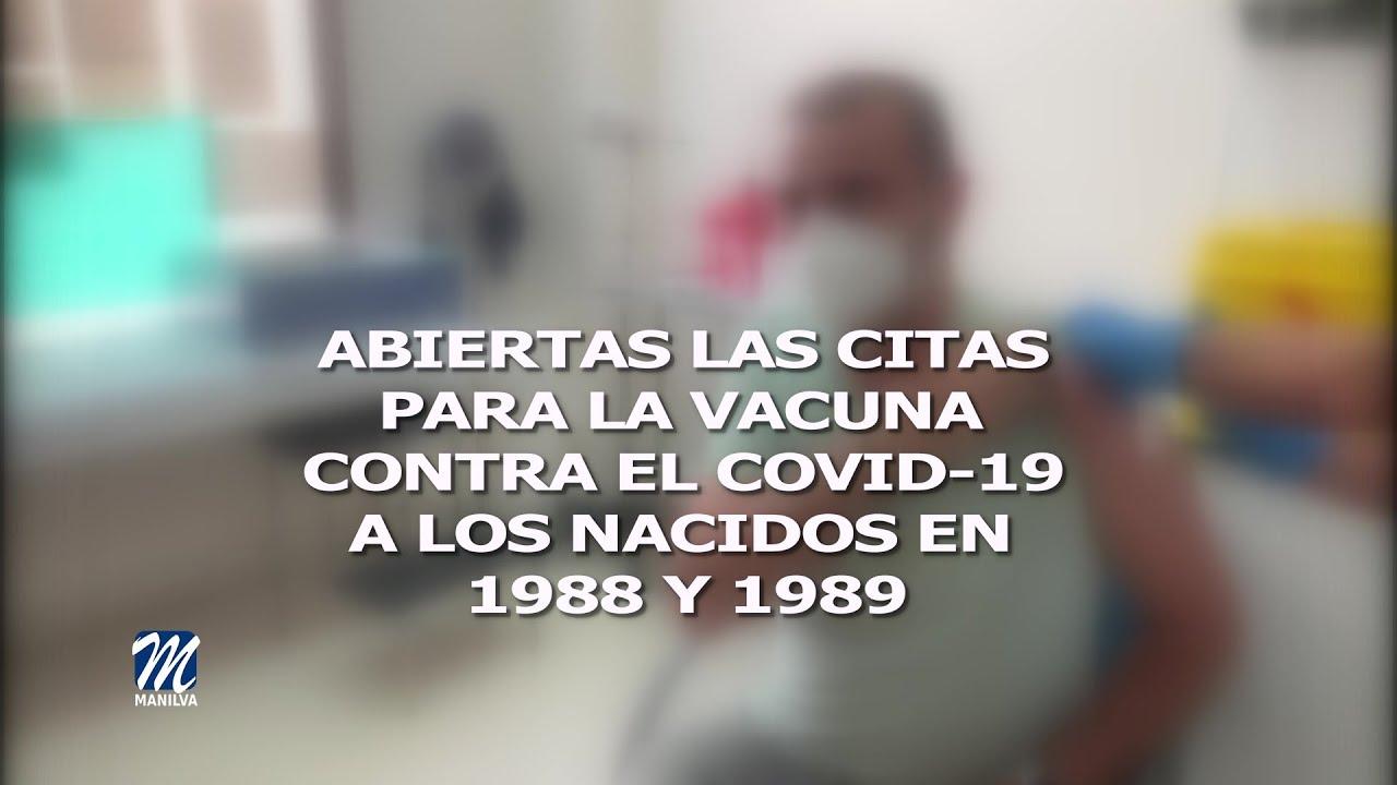 Vacunación para los nacidos en 1988 y 1989